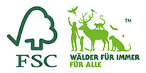 Logo des FSC Forest Stewardship Council
