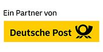 Siegel zur Partnerschaft mit der Deutschen Post